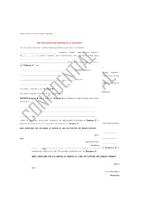 free non disclosure agreement